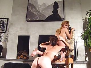 Lesbians Tribbing On Chair (best Quality)