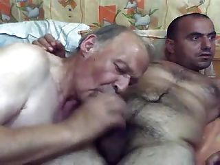 Grandpa Gets Facial From Younger Man
