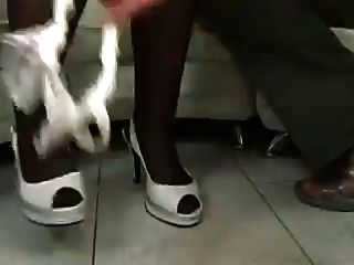 Chubby Black Haired Milf Bbw In Stockings Toys Sucks Fucks