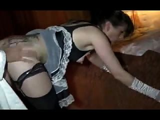 Sexy Tattoed Maid Fucked And Fisted In All Holes