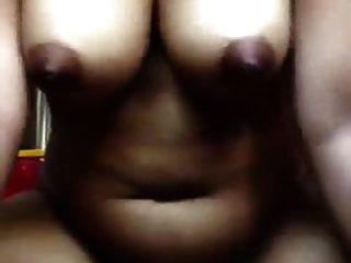 Horny Ebony Cumming On Her Dildo