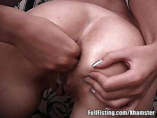Lovely Teen Lesbians In Anal Strapon Fisting Fuck