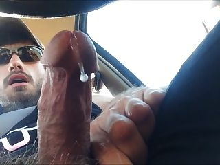 Str8 Muscle With Big Blue Eyes Precum In Car 3