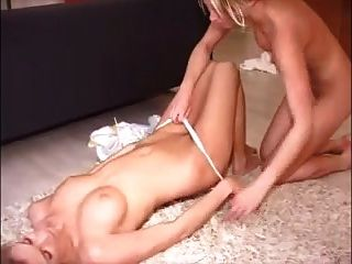 Two Hot Blonde Girlfriends Strip And Trib