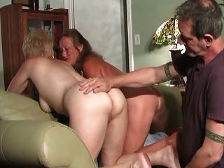 2 Horny Matures Call Their Neighbor To Get Hot Sex