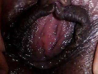Hairy Big Clit Wet Ebony Pussy