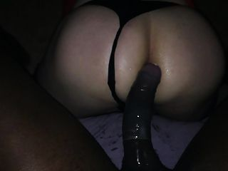 Black Bull Bbc Stretches My White Tv Slut Asspussy