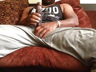 Str8 Guy Stroke His Big Black Meat
