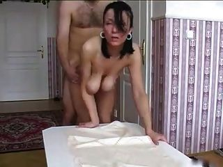 Hot Babe With Huge Tits Sucks And Fucks