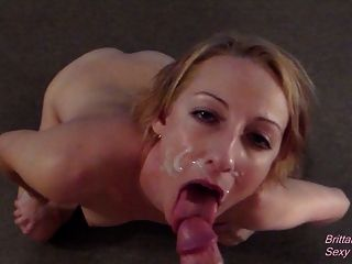 Pov Blowjob And Facial That Turns Into Cum Play