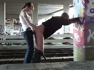 Pegging By The Train Tracks