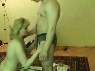 Amateur Blonde Milf In Stockings Fucked By A Younger Boy