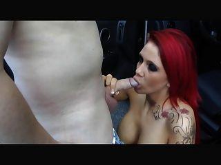 Redhead Big Tits  Fuck In Car