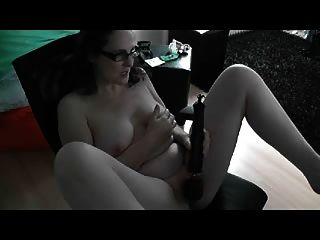German Milf Cums While Watching A Guy Jerking Off