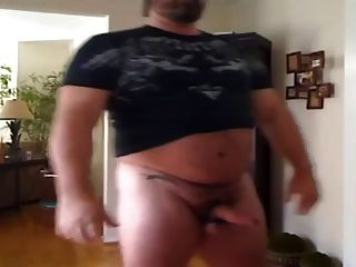 Str8 Big Daddy Bear Stroke And Cum