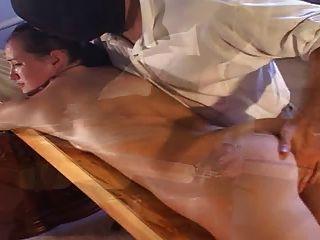 Cute Brunette Bdsm Vibrator Massage