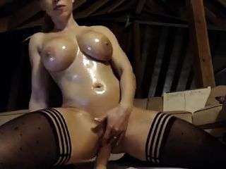 Hot Blonde Rides Dildo On Cam
