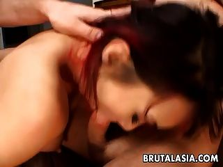 Threesome Destroying The Slut Nand She Gets Ass Fucked