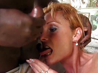 Mature Mendy Takes Huge Black Cock