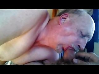 Grandpa Really Enjoy Sucking Fat Old Cock