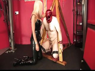 Ballbusting And Facefucked From Mistress