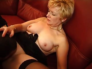 Very Slut Blond French Mature Fucked By A Young Metis