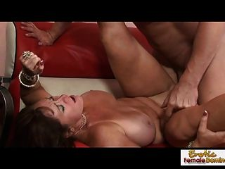 Horny Cougar Takes A Pussy Pounding And A Facial