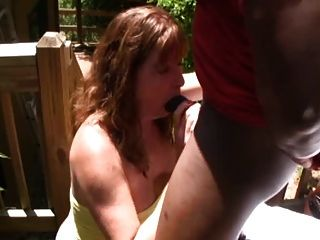 Fuck Mature Woman With A Black Man On Porch