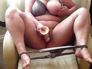 Nice Chubby Girl  Masturbate With Dildo