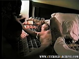 Cuckold Archive Sissy Watches Wife With Black Bulls