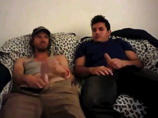 Str8 Best Friends Jerking Together Watching Porn