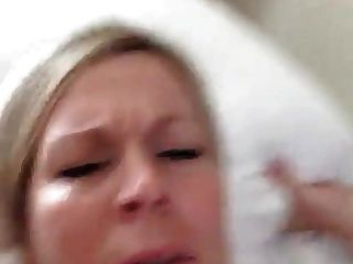 Naughty Mom Eating Cum