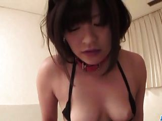Aika Hoshino Gets Her Shaved Twat Fucked Well