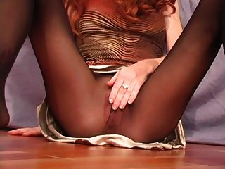 Sexy Redhead Heather Carolin Nylon Pantyhose Dirty Talking