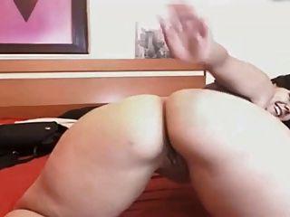 Thick Hispanic Bitch Masturbates On Cam