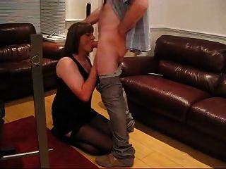 Sub Tgirl Gina Sucks Her Masters Cock