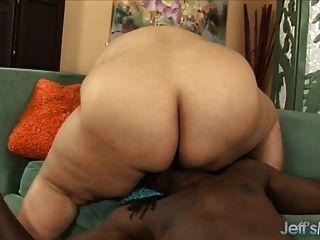 Fatty Latina Lorelai Givemore Riding Black Cock.
