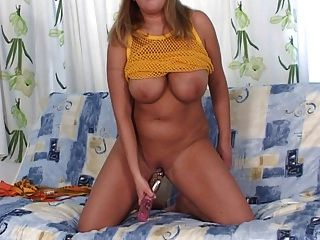Beautiful Busty Anne Masturbates With The Sex Toys Vibrator