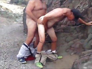 Str8 Spy Daddies In Forest