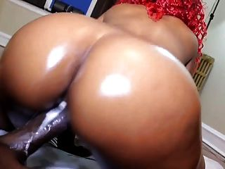 Black Chick Creaming All Over Some Black Dick