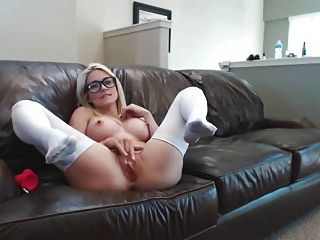 Lovely Blonde Play  Dildo  On Webcam