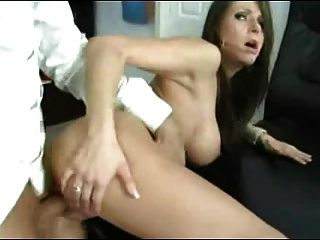 Sexy Brunette Bitch Fucked And Given A Thick Creamy Facial