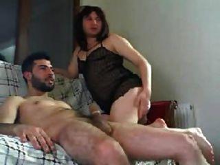 Turkish Crossdresser Riding Dick