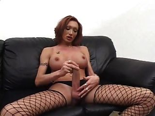 Early Mariana Cumming On Black Couch By Coupl4funn