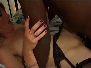 White Wife In Stockings For Her Black Bull Mc169