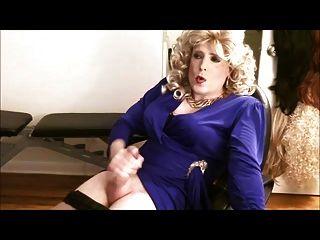 Blue Dress Blonde Wig