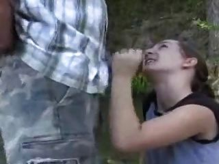 Blowjob By The Stream Ending With A Facial