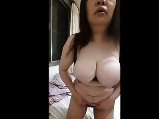 Chubby Asian Orgasms Off Of Unpeeled Banana