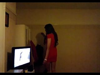 Kaylagirl80 - Crossdresser In Red Dress