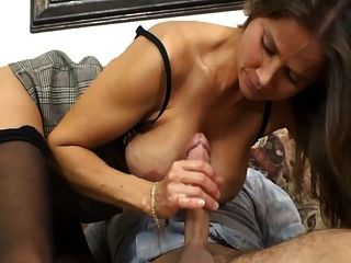Milf Sucks And Wanks A Cock
